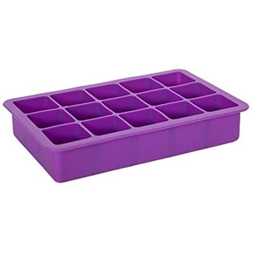 6 Pack: Elbee Home 15 Cube Silicone Ice Tray