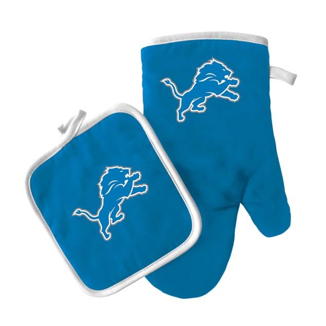 Detroit Lions Oven Mitt and Pot Holder