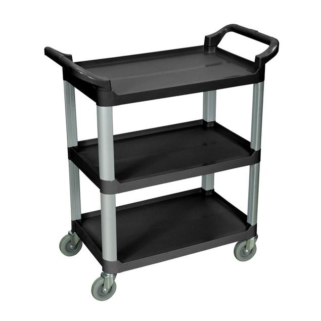 "Luxor 37"" Three Shelves Serving Utility Cart - Black"