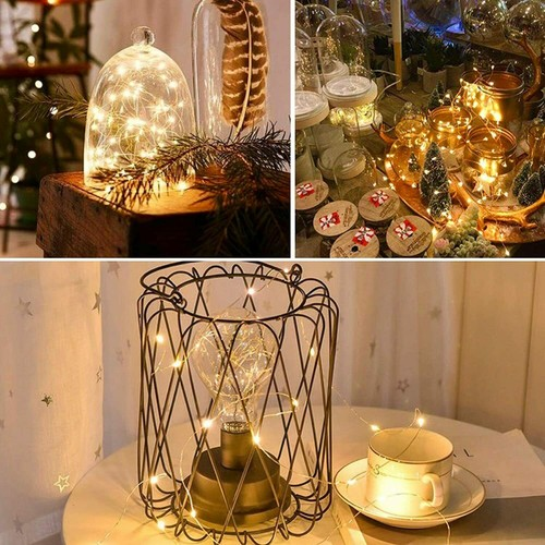 3 PCS Fairy String Lights 6.6Ft for Wedding Party Home Wall Backdrops Decor