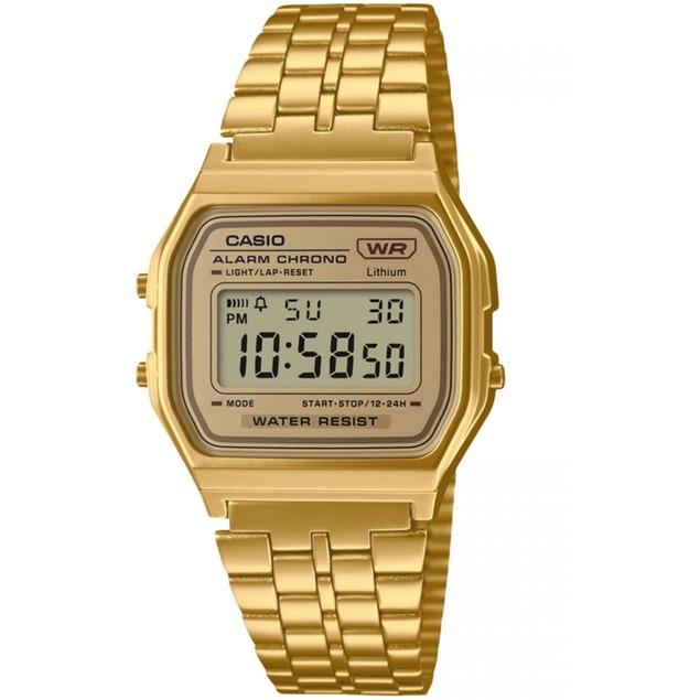Casio Men's Vintage Gold Dial Watch - A158WETG-9AVT