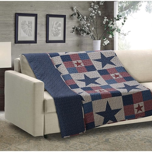 Spura Home Mountain Cabin Red Quilted Throw Blanket sofa Bed