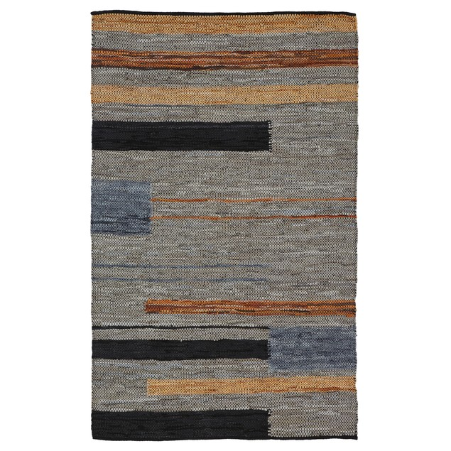 Almaza Hand Crafted Leather And Cotton Area Rug