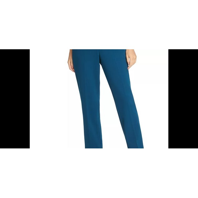DKNY Women's Belted Essex Ankle Pant Blue Size 8