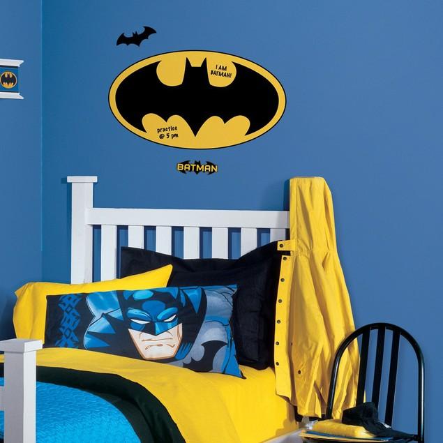 Roommates Baby Room Wall Decor Dry Erase Batman Logo Giant Wall Decals
