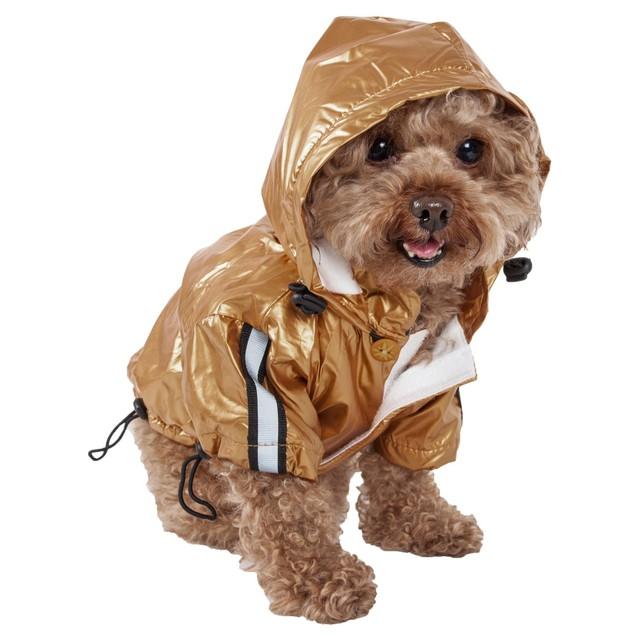 Reflecta-Sport Adustable Reflective Dog Rainbreaker w/ Removable Hood