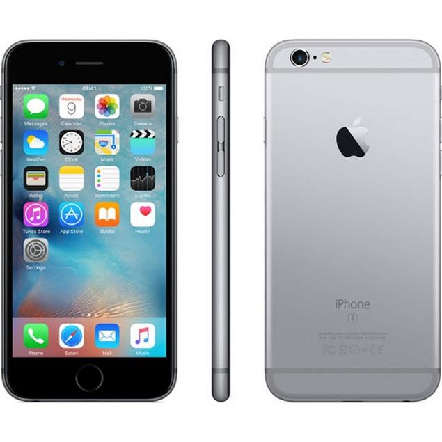 Apple iPhone 6s, AT&T, Grade B-, Gray, 64 GB, 4.7 in Screen