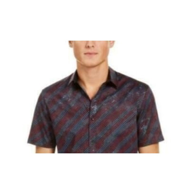 INC International Concepts Men's Jeffery Shirt Black Size Large
