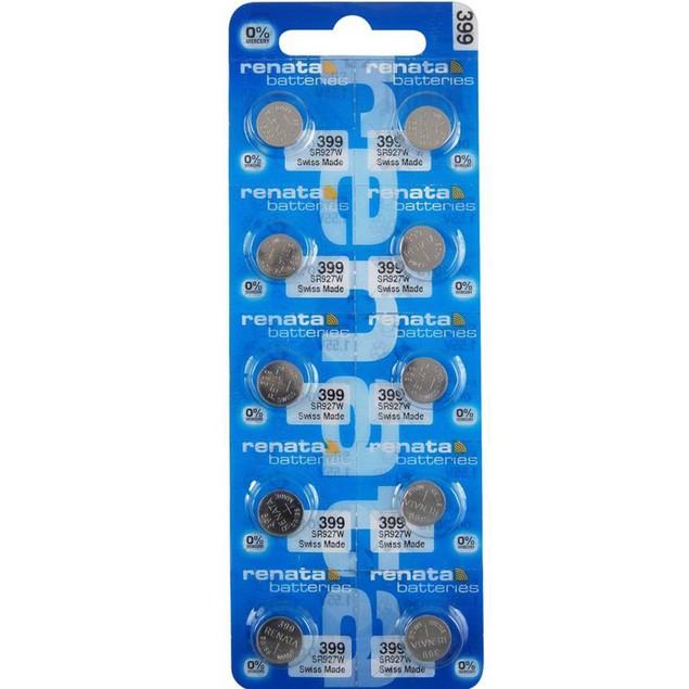 Renata 399 (SR927W) Silver Oxide Watch Batteries (10 Pack)