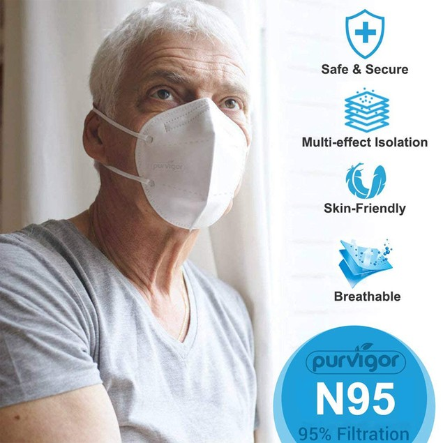 KN95 Multi Layer Face Mask Protector - 5 PACK