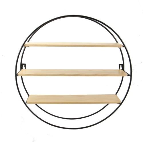Floating Circle Shelf | MandW 3 Tier