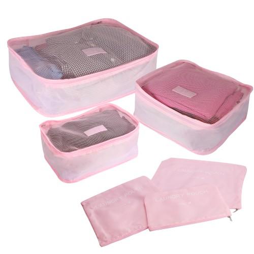 Suitcase Luggage Packing Cubes   Pukkr Pink