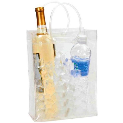 Transparent Wine & Beverage Ice Chest with Handles For 2 Wine