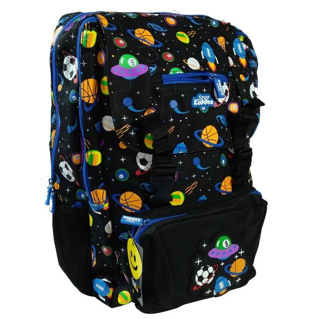 Smilykiddos Fancy Backpack Black| Backpack for Boys & Girls.