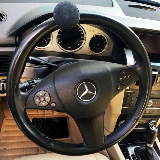 Zone Tech Steering Wheel Spinner Black Silicone Power Handle Brodi Knob