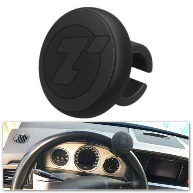 Zone Tech Steering Wheel Spinner Black Silicone Power Handle Brodi Knob