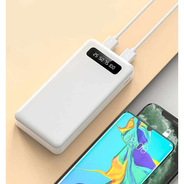 Universal 10,000mAh LED Power Bank w/ Built-In Cables, Flashlight & USB Ports