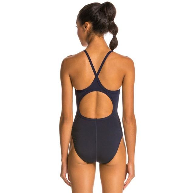 TYR Girl's Durafast Elite Solid Diamondfit Swimsuit (Navy, SIZE 26)