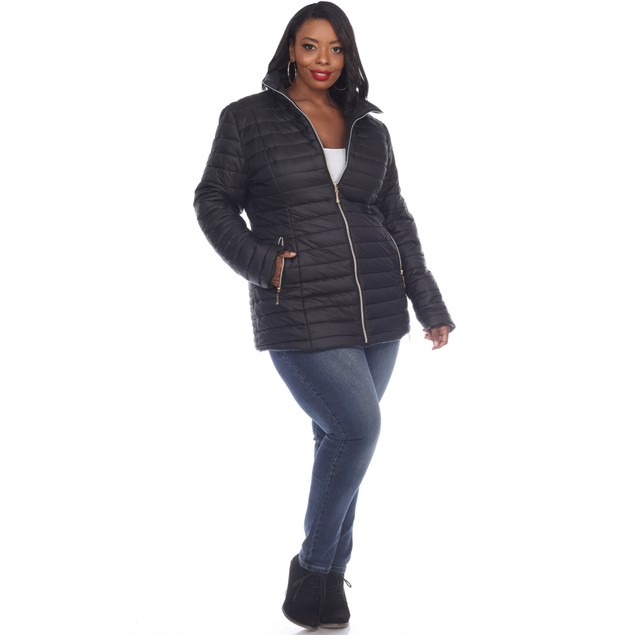 Puffer Coat - 4 Colors - Extended Sizes