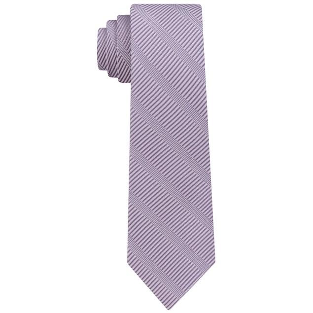 DKNY Men's Sky Line Silk Slim Tie Purple Size Regular