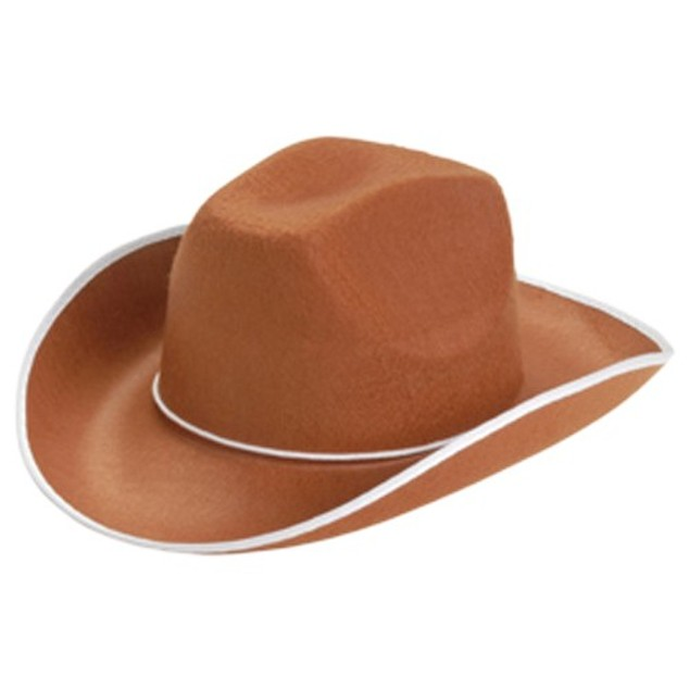 Brown Cowboy Adult Hat Western Costume Cowgirl Sheriff Woody Toy Story Gift