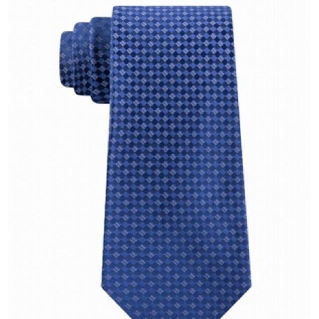 Kenneth Cole Reaction Men's Micro Checkerboard Slim Tie Navy Size Regular
