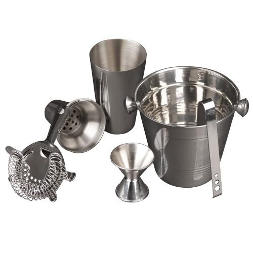5 Pc Cocktail Shaker & Bar Accessories - Drink Mixer & Cocktail Set Barware
