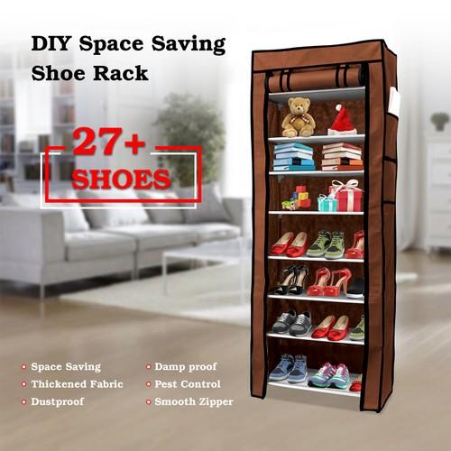 10 Tiers DIY Shoe Cabinet Dustproof Easy Assemble Tidy Shoe Rack