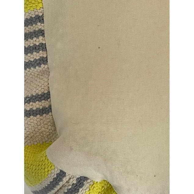 Spura Home Handmade Knitted Pouf Coastal Cotton Pouf Ottoman