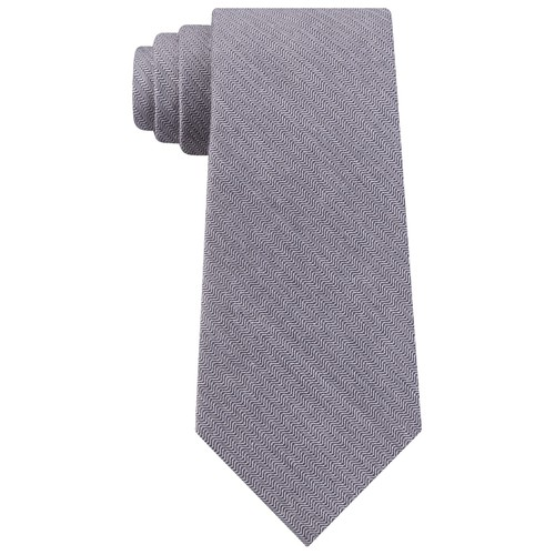 Calvin Klein Men's Slim Herringbone Tie Blue Size Regular
