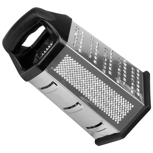 """Cheese Grater Vegetable Slicer Stainless Steel, 6 Sided, 9.5""""H"""