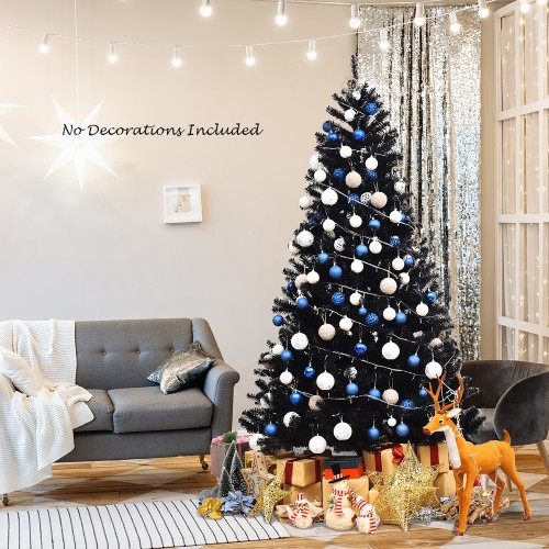 Costway 6Ft/7.5Ft Hinged Artificial Halloween Christmas Tree