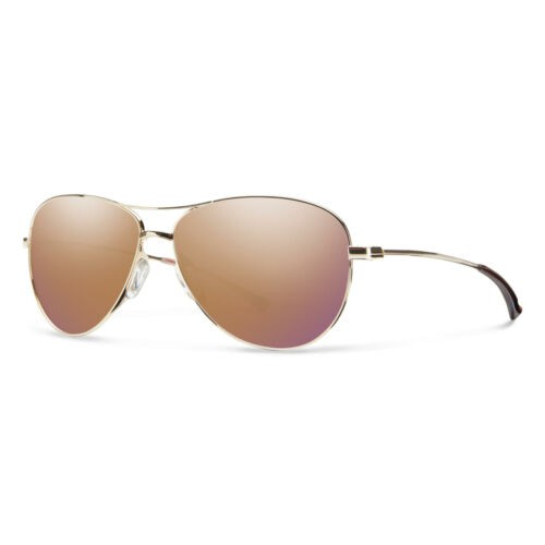 Smith Sunglasses for Women Langley/S 0J5G 60 Gold rose, Mirrored