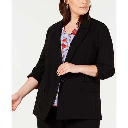 Bar III Women's Plus Size Blazer  Black Size 2 Extra Large