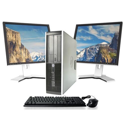 HP Pro 6200 PC & Dual LCDs Bundle (Intel Core i3, 16GB RAM, 500GB HDD) - Grade A