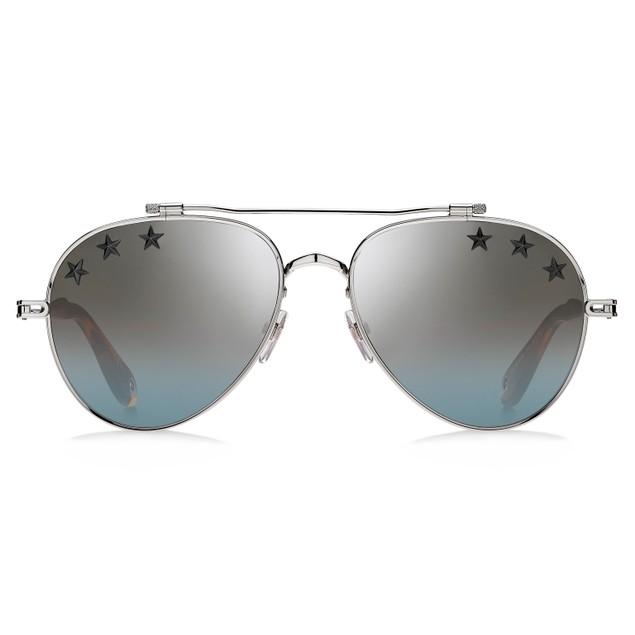 Givenchy Women Sunglasses GV7057STARS 010 Palladium 58 17 145 Aviator