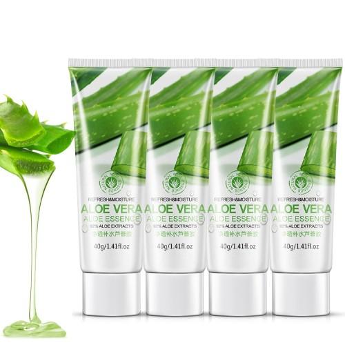 4 Pack Natural Aloe Vera Gel for Sunburn Relief Skin Soothing Moisturizing