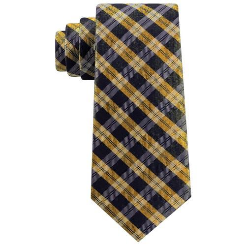 Tommy Hilfiger Men's Brooklyn Classic Plaid Tie Yellow Size Regular
