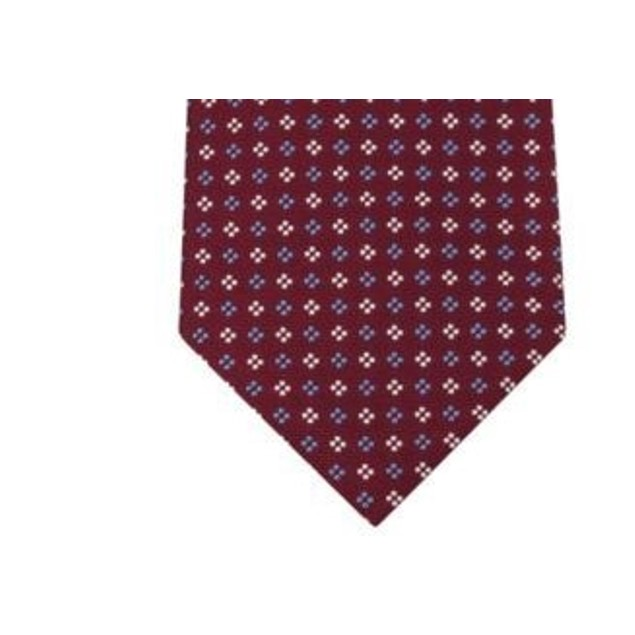 Tommy Hilfiger Square Neat Tie Red Size Regular