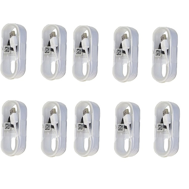 Samsung 5ft. Sync Charge Micro USB Data Cable, 10 Pack (White)