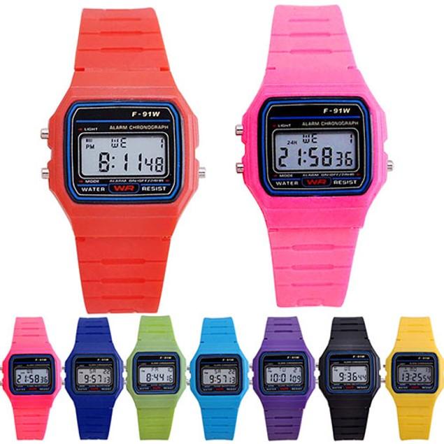LED Digital Multifunction Plastic Sports Wristwatch