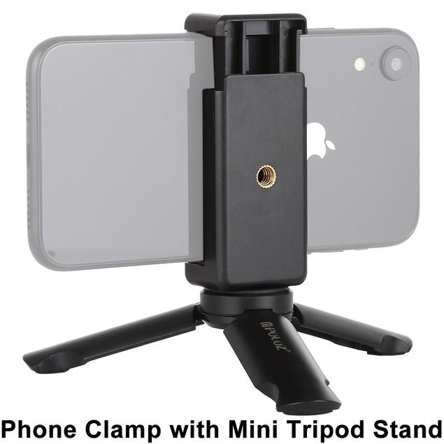 Phone Clamp With Mini Tripod Stand