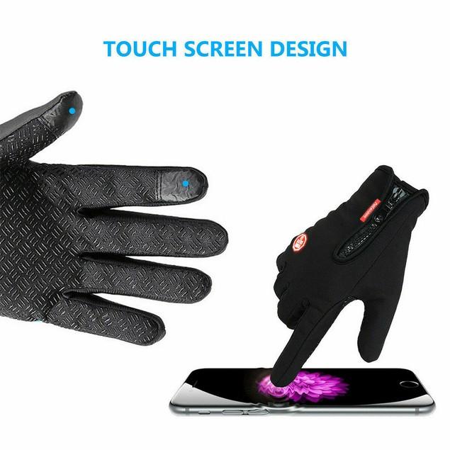 Men Gloves Touch Screen Motorcycle Full Finger Sport Gloves