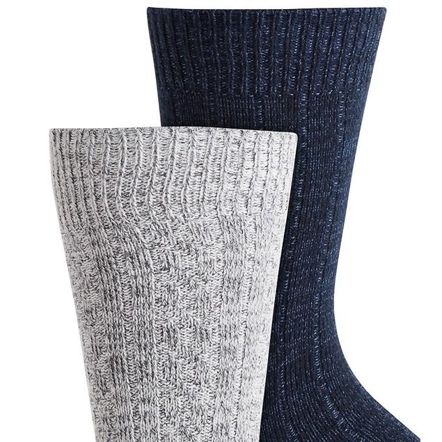 Gold Toe Men's 2-Pk. Cable-Knit Socks Blue Size Regular