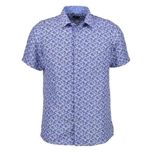 Rosso Milano Modern Fit Short Sleeve Royal Birdseye Dress Shirt