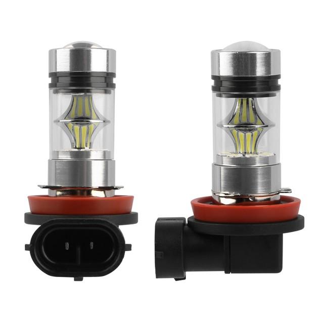 2PCS 1000lm 100W H8/H9/H11 LED Fog DRL Light Bulb