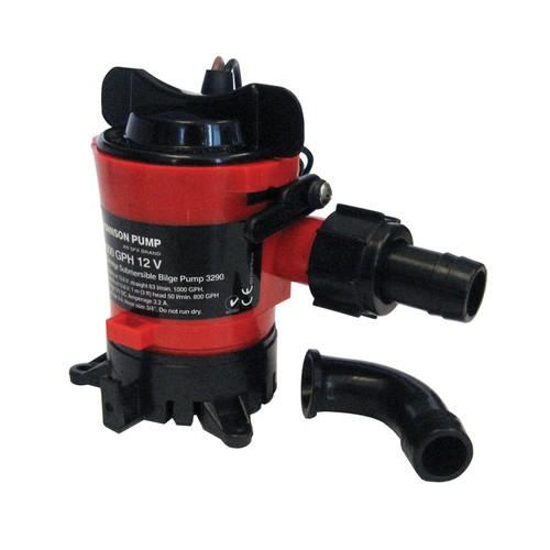 """Johnson Pump 500 GPH Bilge Pump 3/4"""" Hose 12V Dura Ports"""