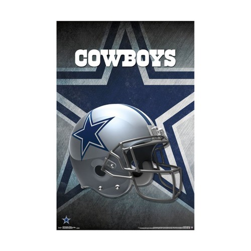 Dallas Cowboys Helmet Logo Poster