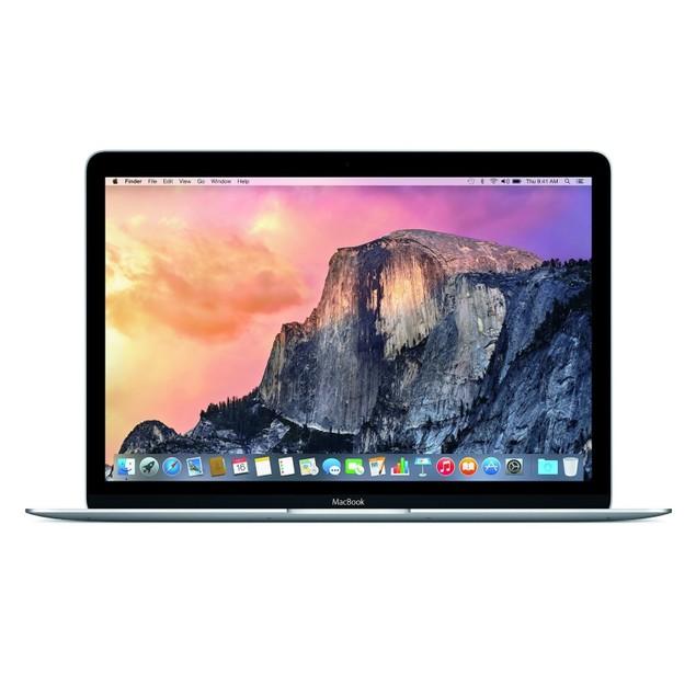 """Apple MacBook MF855LL/A 12"""" 256GB m-5Y31 Mac OSX,Silver (Refurbished)"""