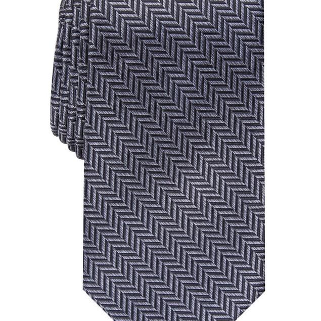 Perry Ellis Men's Savin Herringbone Tie Black Size Regular